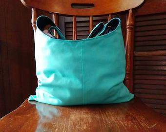Handmade reversible hobo bag