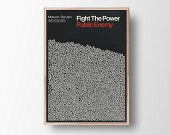Fight The Power, Public Enemy, Music, Hip Hop, rap Lyric Poster