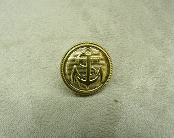 Military button anchor - gold plated 16 mm