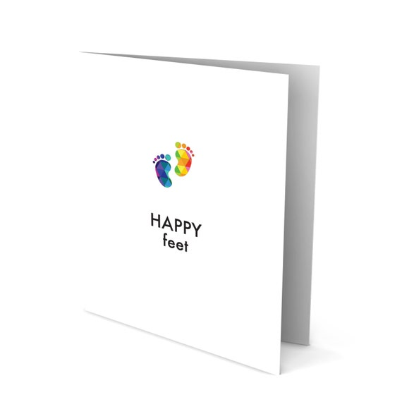 New Baby Greeting Card with Tiny Toes!