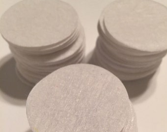 "1 1/2"" White Felt Circles- set of 100 DIY projects, crafting"