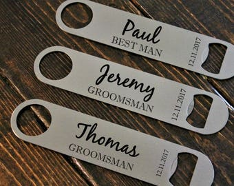 Groomsmen gift, best man gift, bottle opener,beer opener, stainless, personalized wine, personalized beer, bridesmaid gift,
