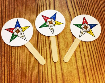 OES Order of the Eastern Star Cupcake Toppers