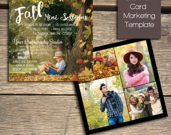 Fall Mini Session - Photoshop Marketing Template - INSTANT DOWNLOAD