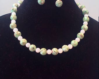 Sweet pea beaded necklace