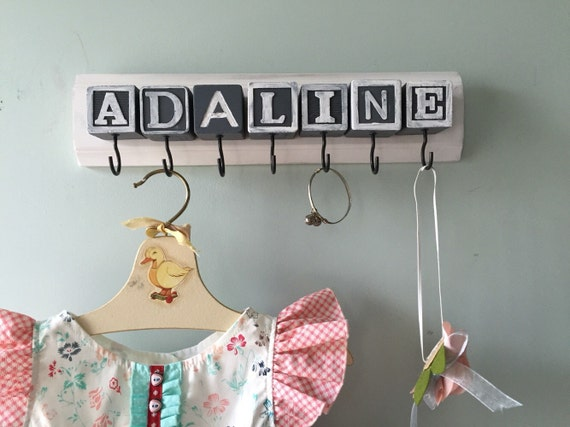 Baby Block Custom Name Hook Board