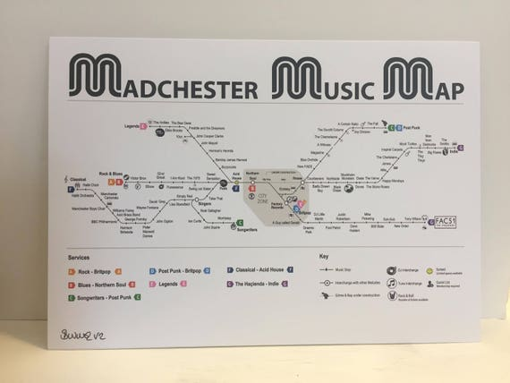 Madchester Manchester Music Map