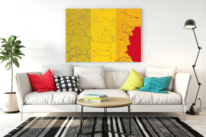 Romania Map Romania Print Romania Poster Romania Map Wall