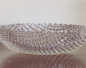 c.1890 Cut Glass Olive Bowl Crystal MUST SEE