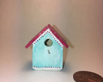 Mini Birdhouse (Random or Customized) 1/12 Scale