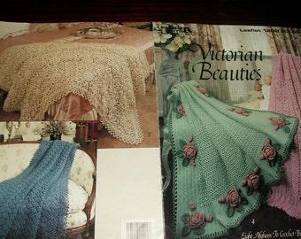 Afghan Crochet Patterns Victorian Beauties Leisure Arts 1292 Terry Kimbrough Crochet Pattern Leaflet