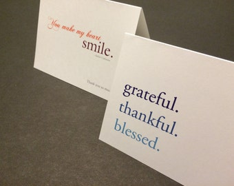 The Expressing Gratitude Collection: a series of thank you notes in one set