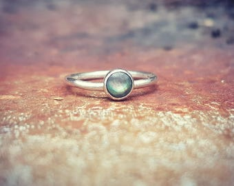 Stunning Black Lip Pearl & Eco Sterling Silver Ring