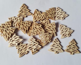 31mm wood christmas trees, Wooden christmas tree, Christmas shapes, Wooden shapes, Wood craft shapes, Wood crafts, Christmas, Festive, Trees