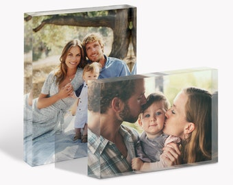 """Custom Photo Block: Clearer than Glass, 125mm x 175mm (7"""" x 5""""), Printed Acrylic, The Perfect Gift or Memento, Personalised With Your Photos"""