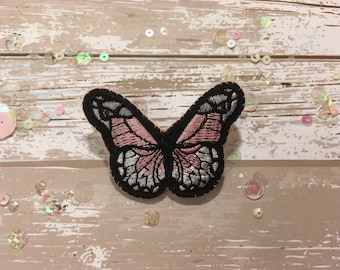 Pink and White Handmade Butterfly Brooch/Pin