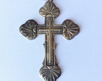 Sterling silver cross hallmark of Ukraine Trident 925.صليب