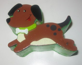 DOGGIE TRINKET BOX *Free Shipping* Hand Painted Hand Crafted Wood Doggie Gift Or Trinket Box With Slider Lid!