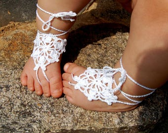 Crochet Baby Barefoot Sandals, Anklet, Crochet Foot Jewelry,  Childrens Foot Accessories, Beach Shoes