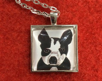 Boston Terrier #1 - 25mm art print pendant