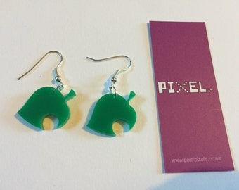 Animal Crossing Leaf style Earrings