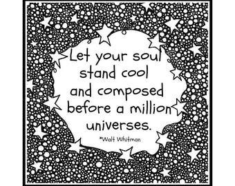 Motivational Quote Print. 8x8 Walt Whitman Quote