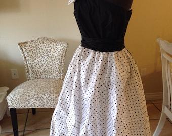 Vintage 1980's does 1950's Polka Dot Full Circle Dress