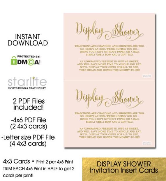 Display shower card baby shower invitation girl insert like this item stopboris Images