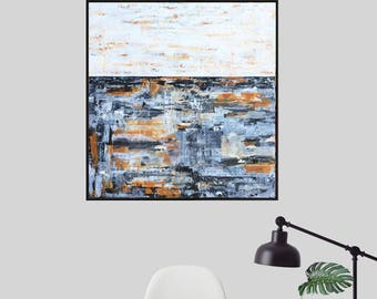 Painting, Abstract Painting,  Black and White Painting, Abstract Art, Acrylic  Painting, Canvas Art,  Wall Art, Brown Painting