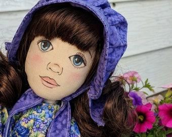 Handmade doll, OOAK doll, cloth art doll, Pioneer doll