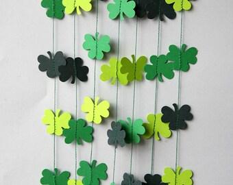 Irish wedding, Clover garland, clover banner, St Patrick's Day banner, Clover decoration, Irish decoration, Irish party decor, KH-5001