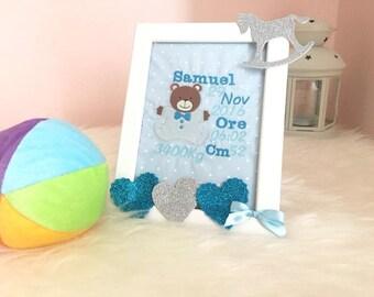 Birth picture-Frame Babyborn-Birth frame-Newborn