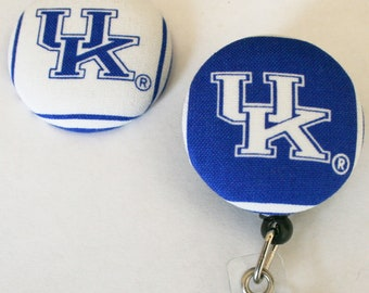 Your Favorite Team Covered Buttons Retractable Badge Reels ID Holders