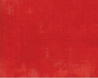1/2 Yard - Grunge Basics - Scarlet - BasicGrey - Moda - Fabric Yardage - 30150 365