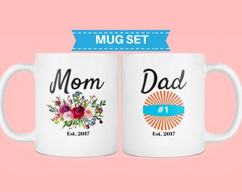 mom mug, new dad gift, new parents gift, dad mug, pregnancy announcement to husband, baby announcement to husband, mom dad mugs, pregnancy