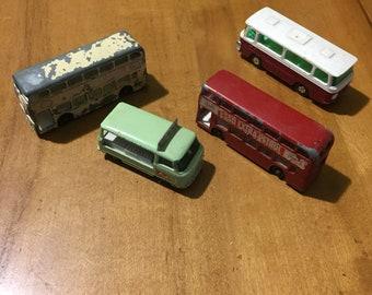 1960's Lesney Die Cast Buses vintage