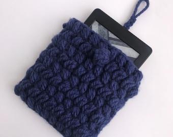 Crochet Kindle Tablet Case - Blue