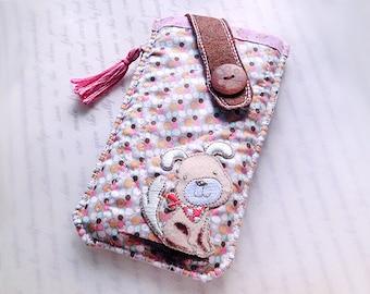 iPhone 8 Plus, iPhone 7 Plus, iPhone 6S plus, iPhone 6 plus, Chien pochette pour téléphone portable