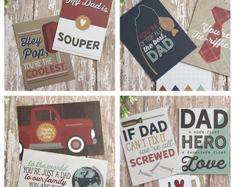 All About Dad, Project / Journal Cards