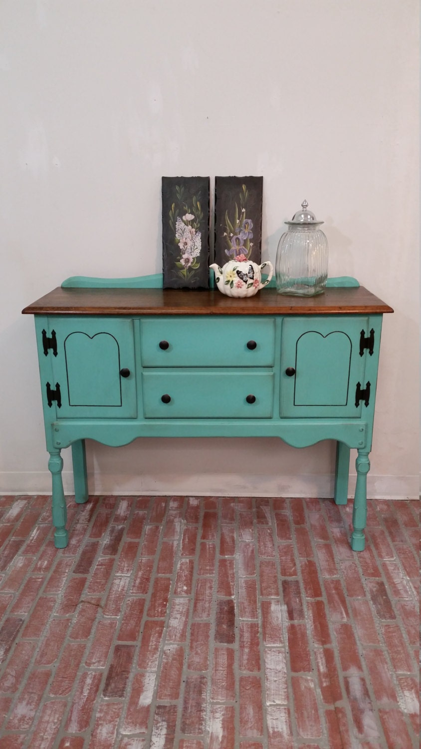Vintage Maple Buffet Table Shabby Chic Furniture Chalk