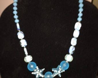 Sea Dream Glass Bead Necklace