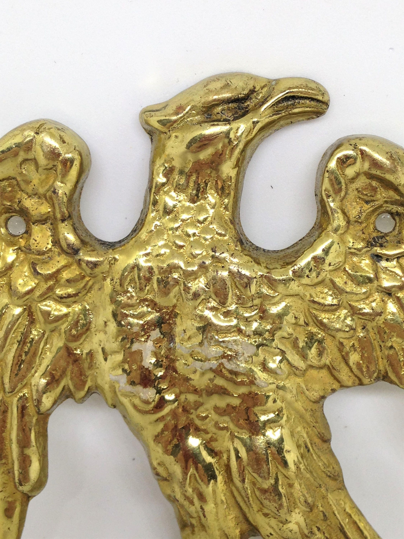 Antique Brass Eagle Wall Hook, Americana Wall Hook, Leash Hook, Key ...