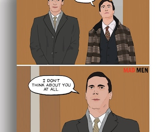 """Mad Men - Season 5 - Don Draper """"I Don't Think About You At All"""" Quote 