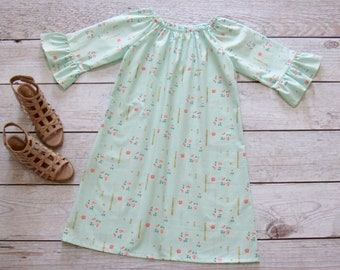 3 Colors. Girl Floral Dress Size 1/2-14