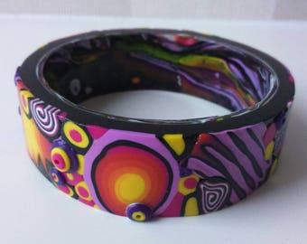 Polymer Clay Bangle, Polymer Clay Jewelry, Handmade Bangle