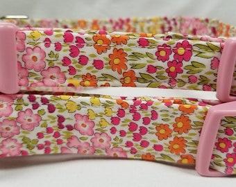 Pink Floral - Dog Collar