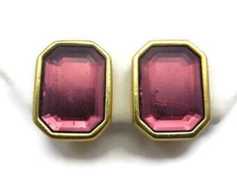 Joan Rivers Jewelry - Earrings, Purple Rhinestone, Clips, Costume Jewelry