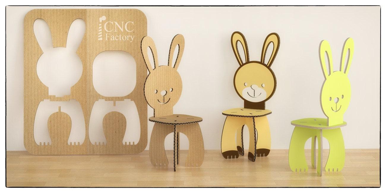 Corte de conejo silla archivo de la corte de la plantilla de