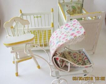 Vintage Dollhouse Furniture for Nursery