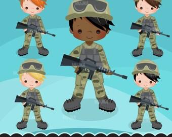 Army clipart, Little soldier boy graphics. Salute patriots, gun, invitation, planner sticker, scrapbooking, activity, embroidery, applique